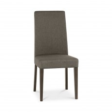 Miles Walnut Taper Back Chair - Titanium Fabric  (Pair)