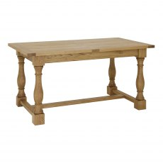 Westbury Rustic Oak 4-6 Extension Table
